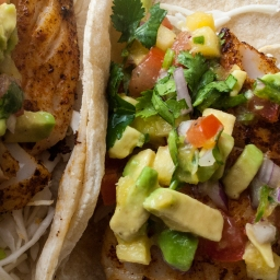 Fish Tacos with Pineapple Avocado Salsa